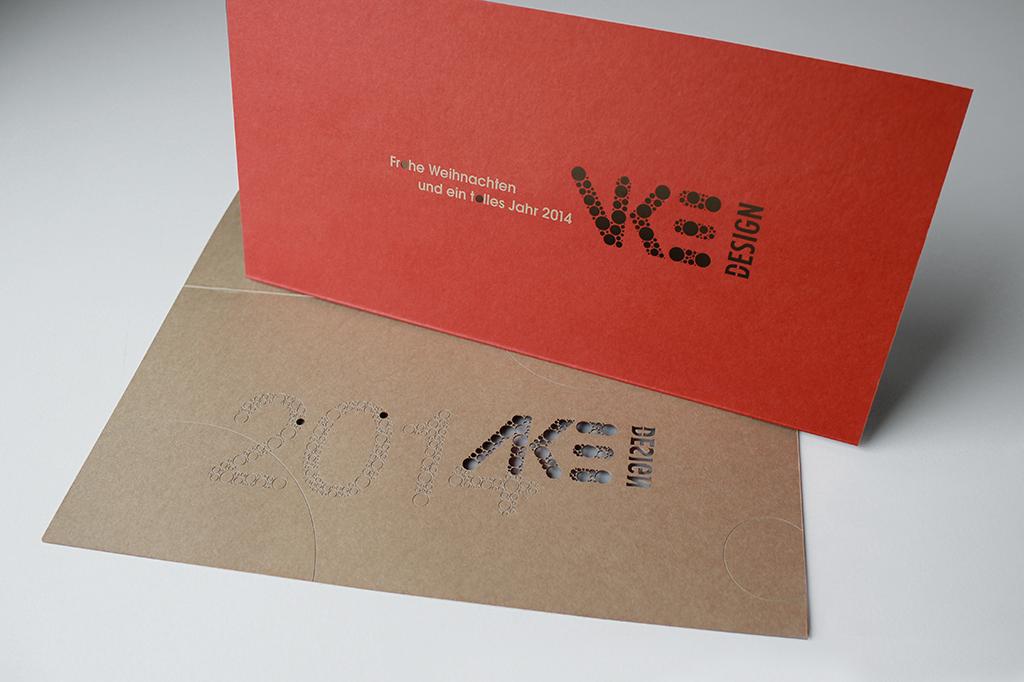 Vke design weihnachtskarte 2013 vke design b ro f r Design firmen deutschland