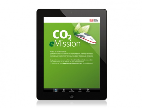 DB Umweltzentrum – App CO2 eMission