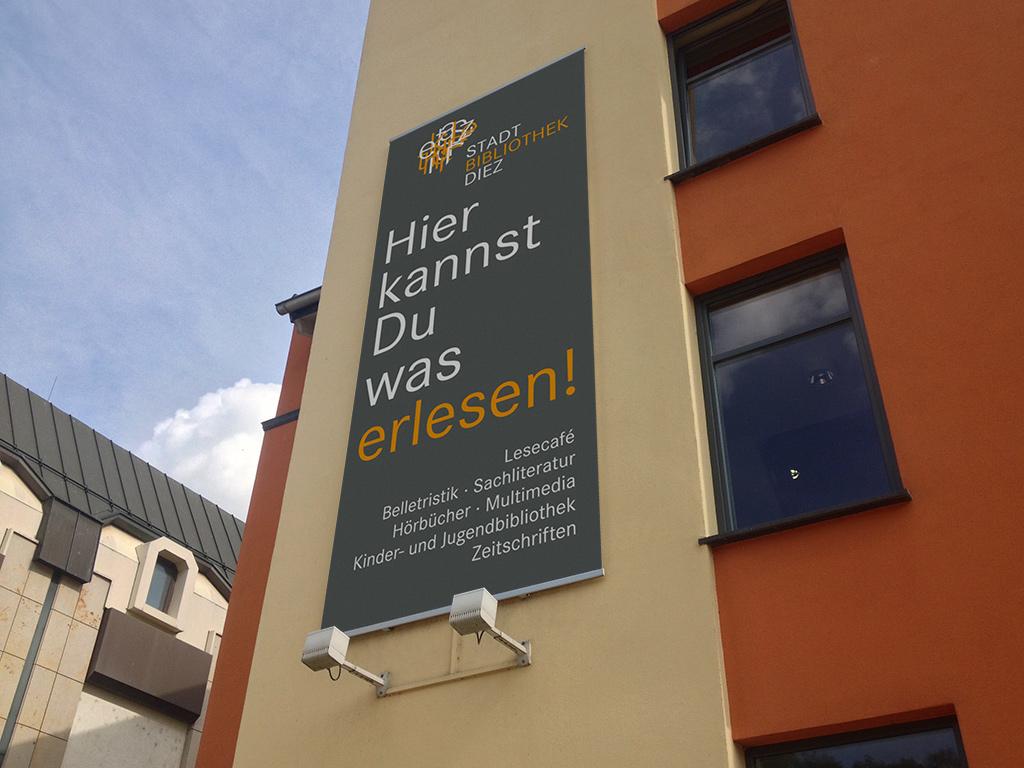 Stadtbibliothek Diez – Großformat-Banner