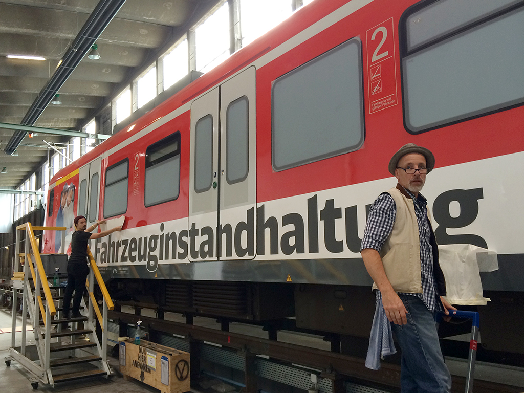 S-Bahn-Beschriftung im Bahnbetriebswerk Hagen